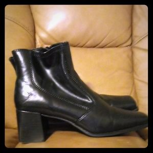 Black Ankle Boots, Size 8.5